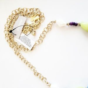Chico's Jewelry - Chico's Necklace NWT Boho Long Beaded Gold Tassel